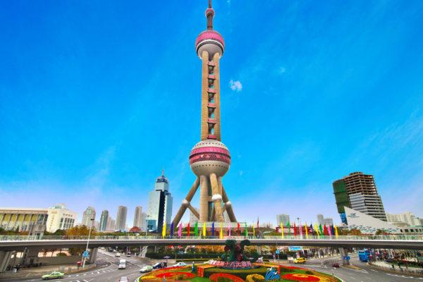pearl tv tower shanghai